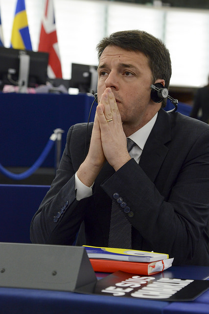 Matteo Renzi al PE © European Union 2014 - European Parliament. (Attribution-NonCommercial-NoDerivs Creative Commons license)