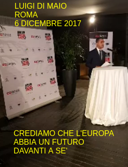 "Luigi Di Maio al convegno di eunews ""How can we govern Europe"", Roma 6 dicembre 2017"