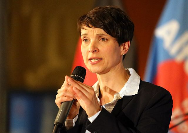 Frauke Petry, capo partito di Afd Alternative for Deutchland, Alternativa per la Germania