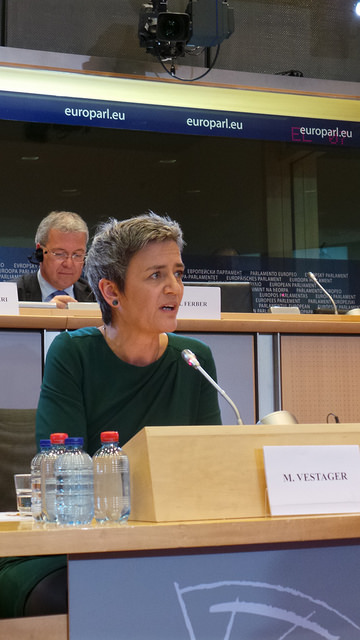 Margarethe Vestager #EPhearings2014 (CC BY-NC 2.0) Link: https://www.flickr.com/photos/epp_group_official/15420730455/