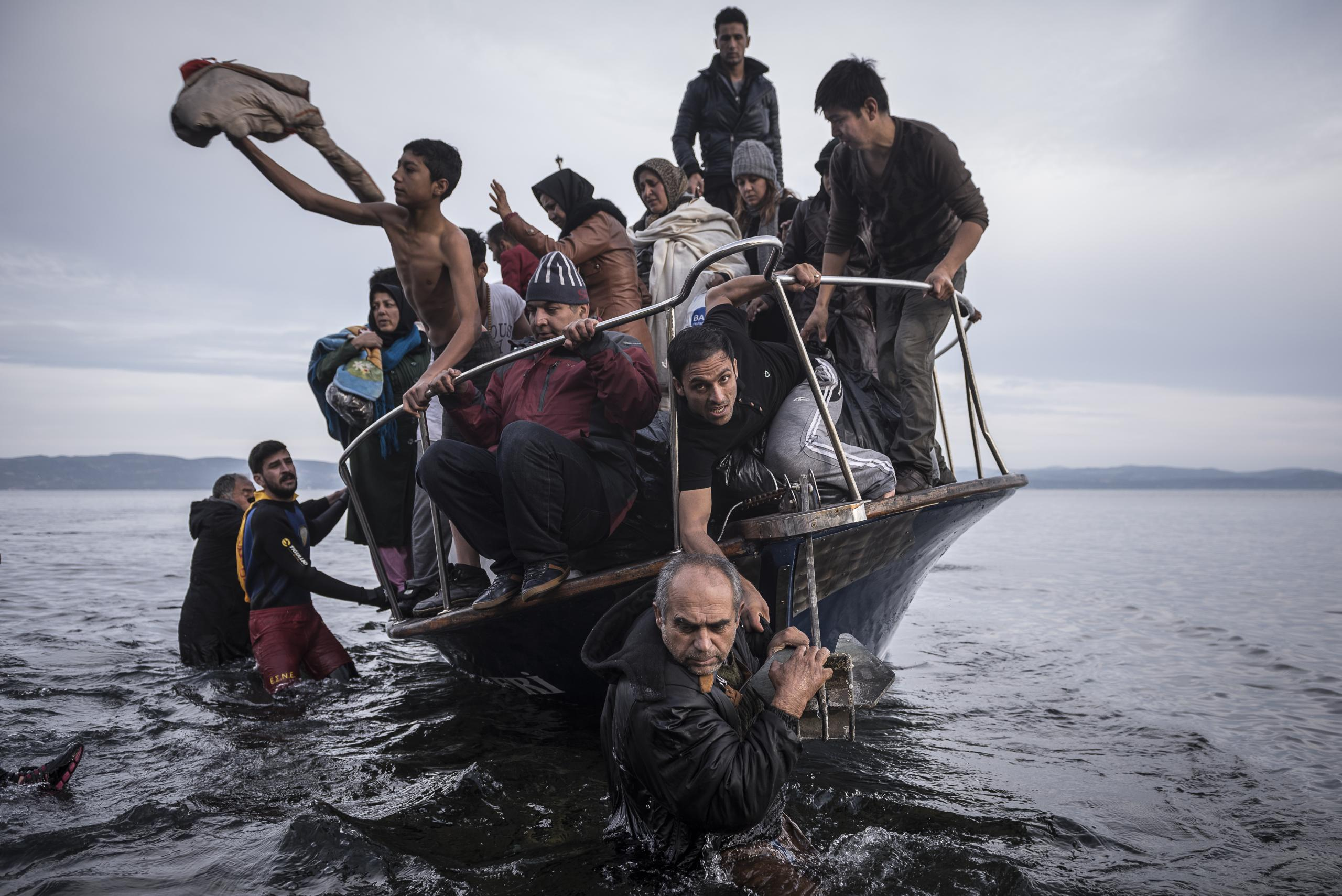 World Press Photo 2016, Refugees in Lesbo, by Sergey Ponomarev